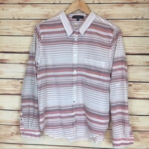Sanctuary Southwestern Striped Button Down Shirt